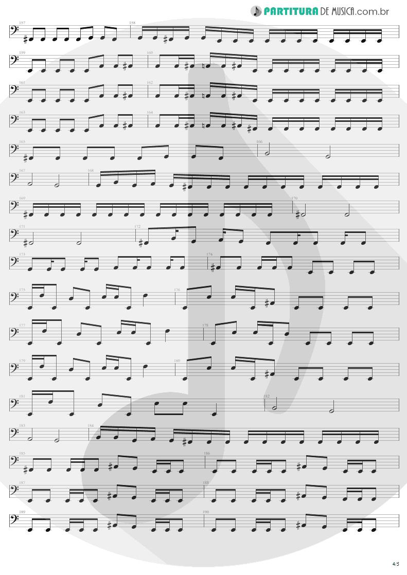 Partitura de musica de Baixo Elétrico - Damage, Inc. | Metallica | Master of Puppets 1986 - pag 4