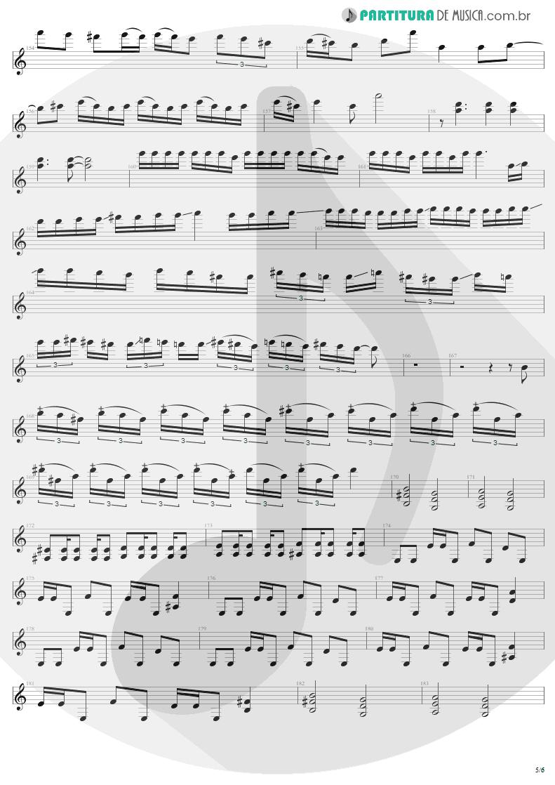 Partitura de musica de Guitarra Elétrica - Damage, Inc. | Metallica | Master of Puppets 1986 - pag 5