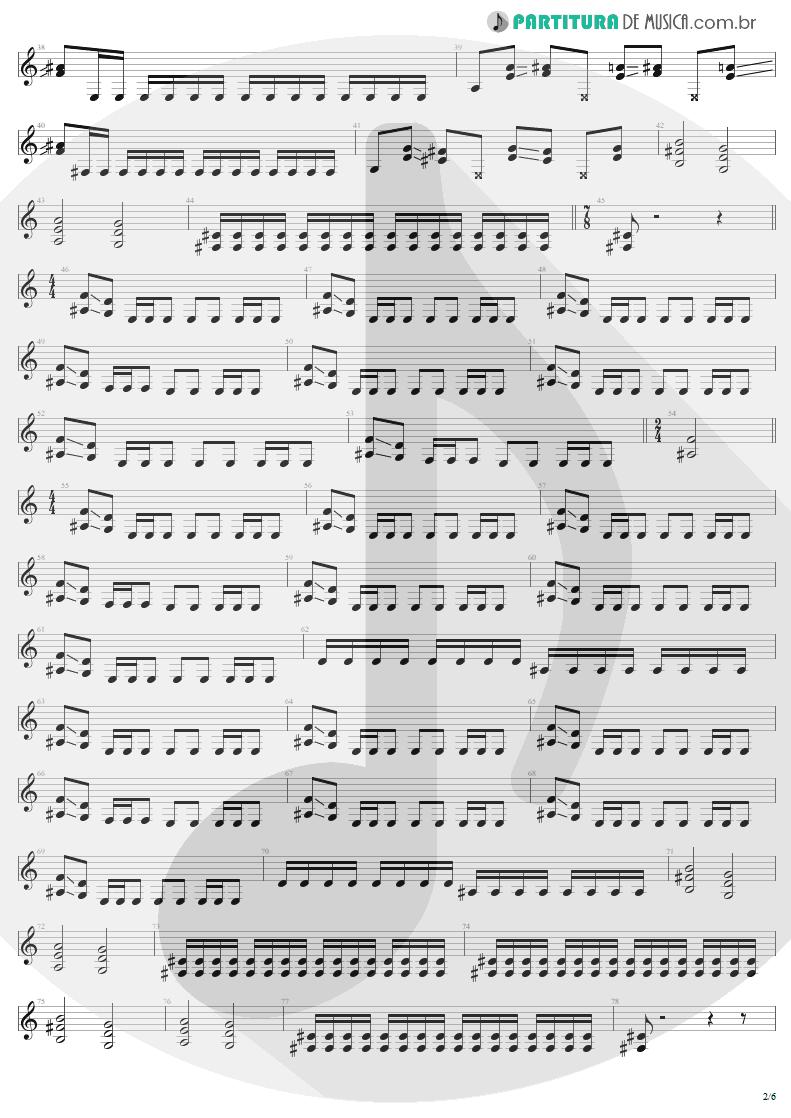 Partitura de musica de Guitarra Elétrica - Damage, Inc. | Metallica | Master of Puppets 1986 - pag 2