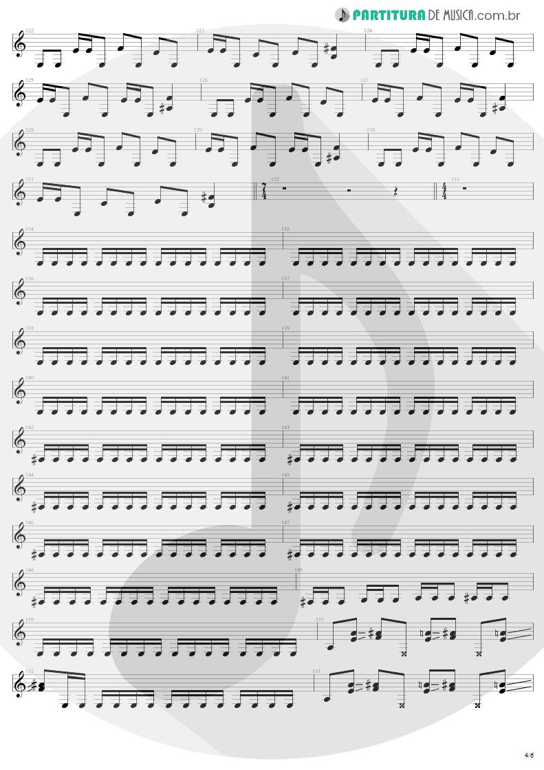 Partitura de musica de Guitarra Elétrica - Damage, Inc. | Metallica | Master of Puppets 1986 - pag 4