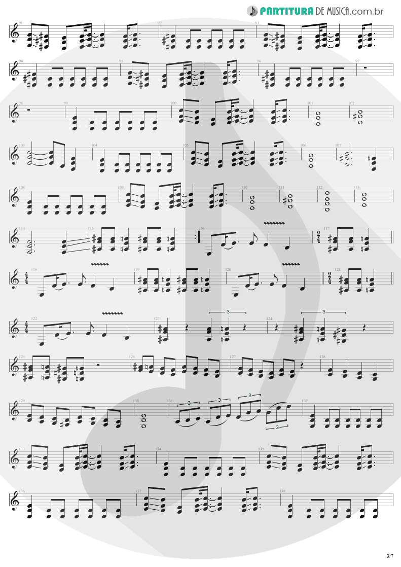 Partitura de musica de Guitarra Elétrica - ...And Justice For All | Metallica | ...And Justice for All 1988 - pag 3