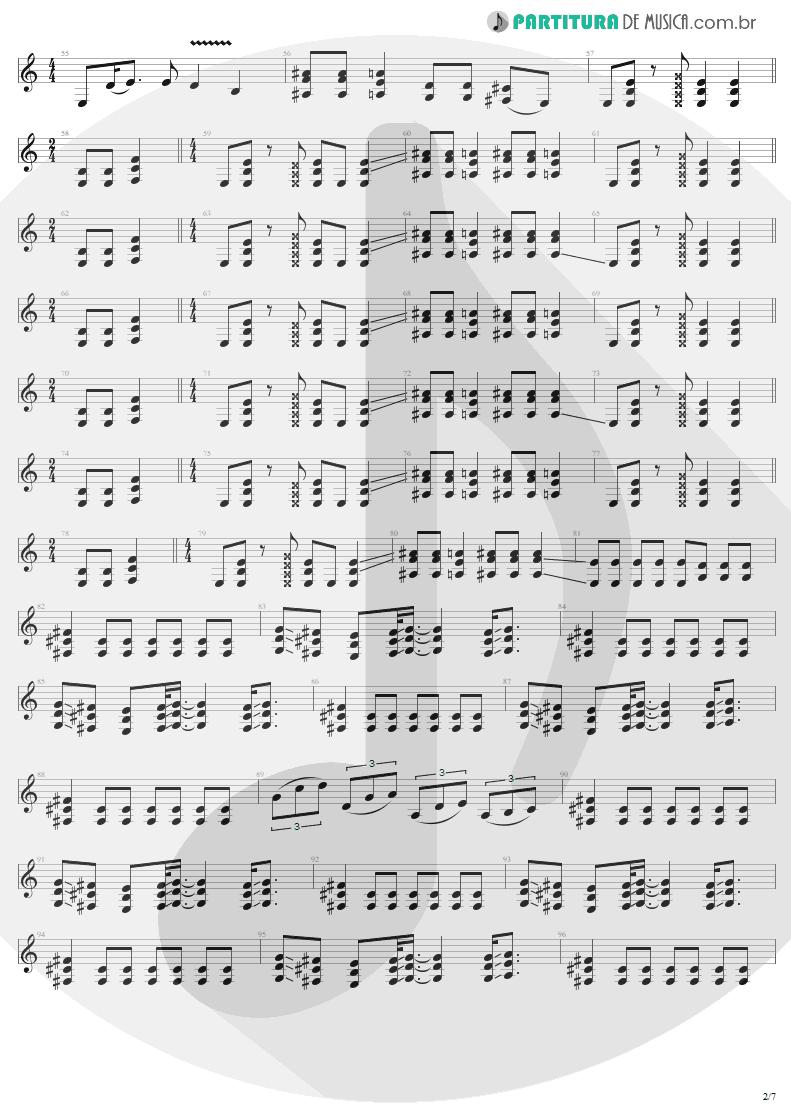 Partitura de musica de Guitarra Elétrica - ...And Justice For All   Metallica   ...And Justice for All 1988 - pag 2