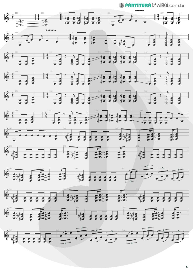 Partitura de musica de Guitarra Elétrica - ...And Justice For All   Metallica   ...And Justice for All 1988 - pag 6
