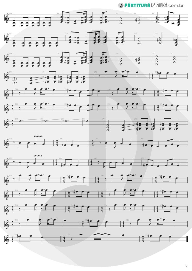 Partitura de musica de Guitarra Elétrica - ...And Justice For All   Metallica   ...And Justice for All 1988 - pag 7