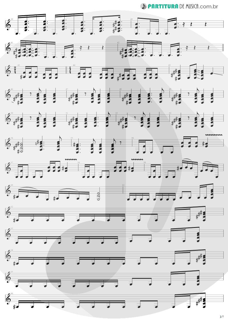 Partitura de musica de Guitarra Elétrica - Eye Of The Beholder | Metallica | ...And Justice for All 1988 - pag 3
