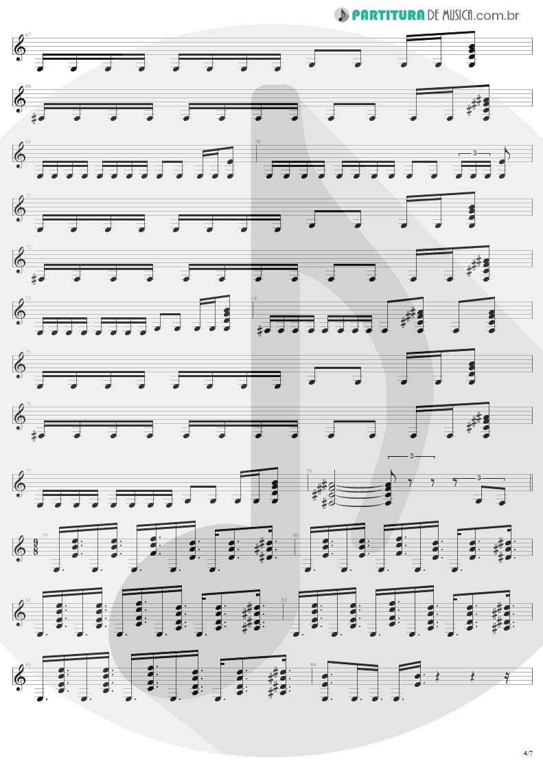 Partitura de musica de Guitarra Elétrica - Eye Of The Beholder | Metallica | ...And Justice for All 1988 - pag 4
