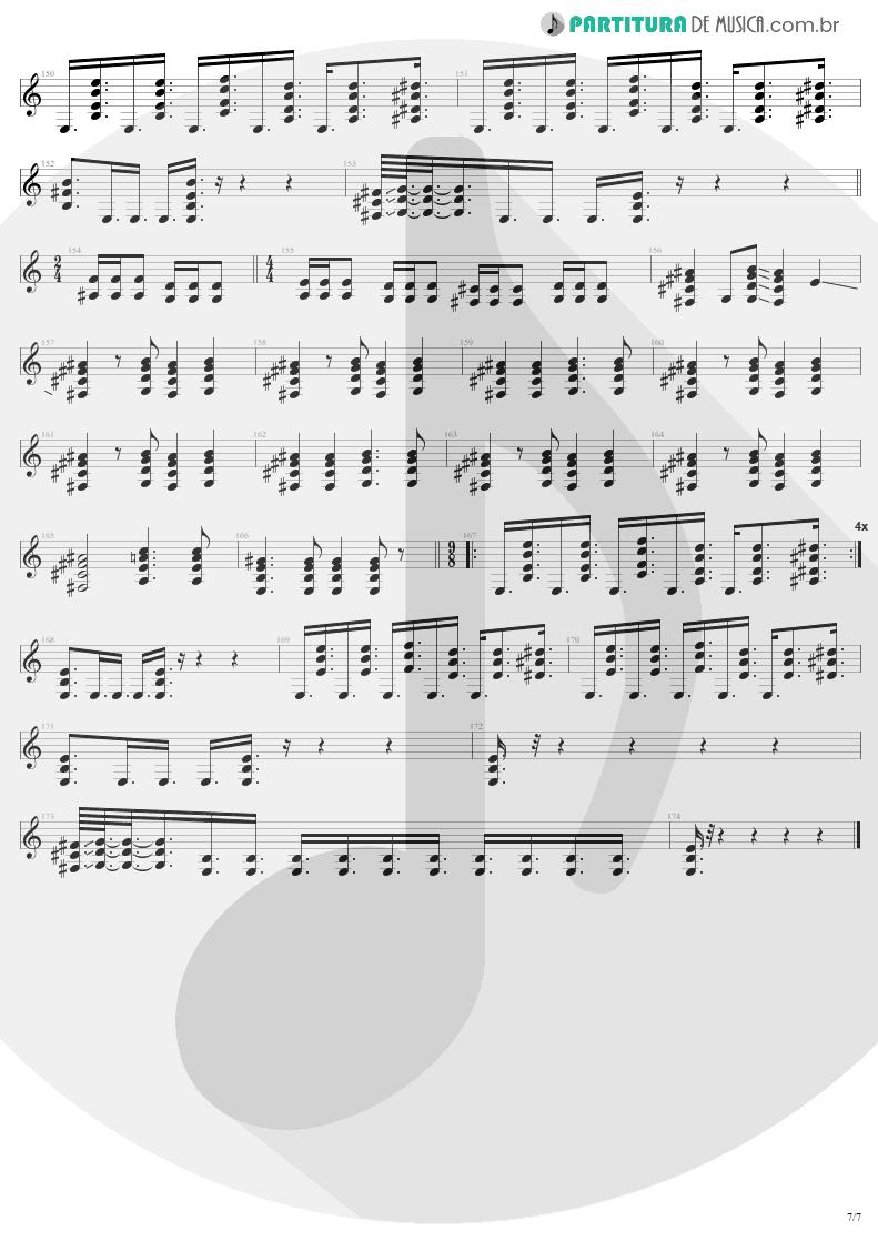 Partitura de musica de Guitarra Elétrica - Eye Of The Beholder | Metallica | ...And Justice for All 1988 - pag 7