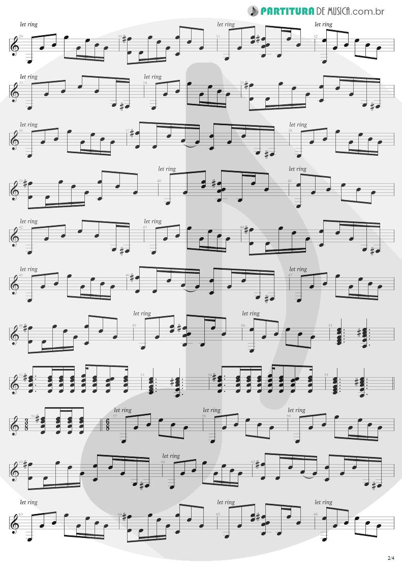 Partitura de musica de Violão - Nothing Else Matters | Metallica | Metallica 1991 - pag 2