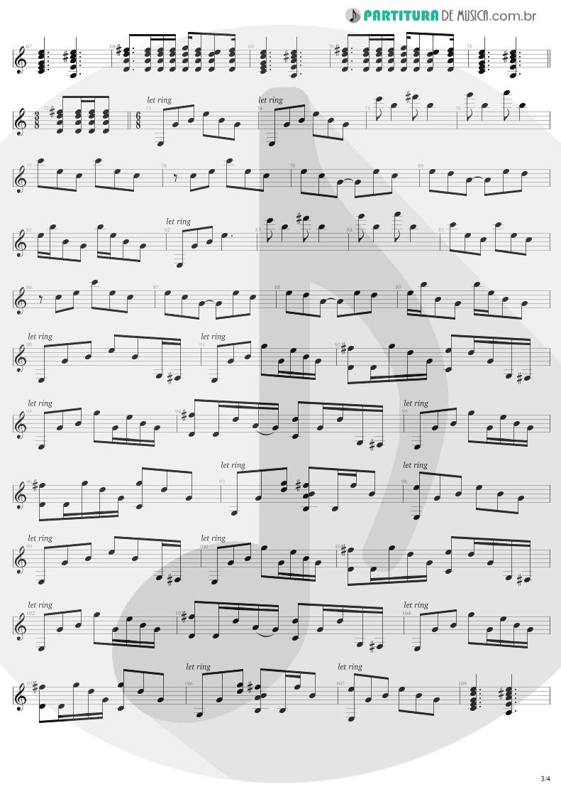 Partitura de musica de Violão - Nothing Else Matters | Metallica | Metallica 1991 - pag 3