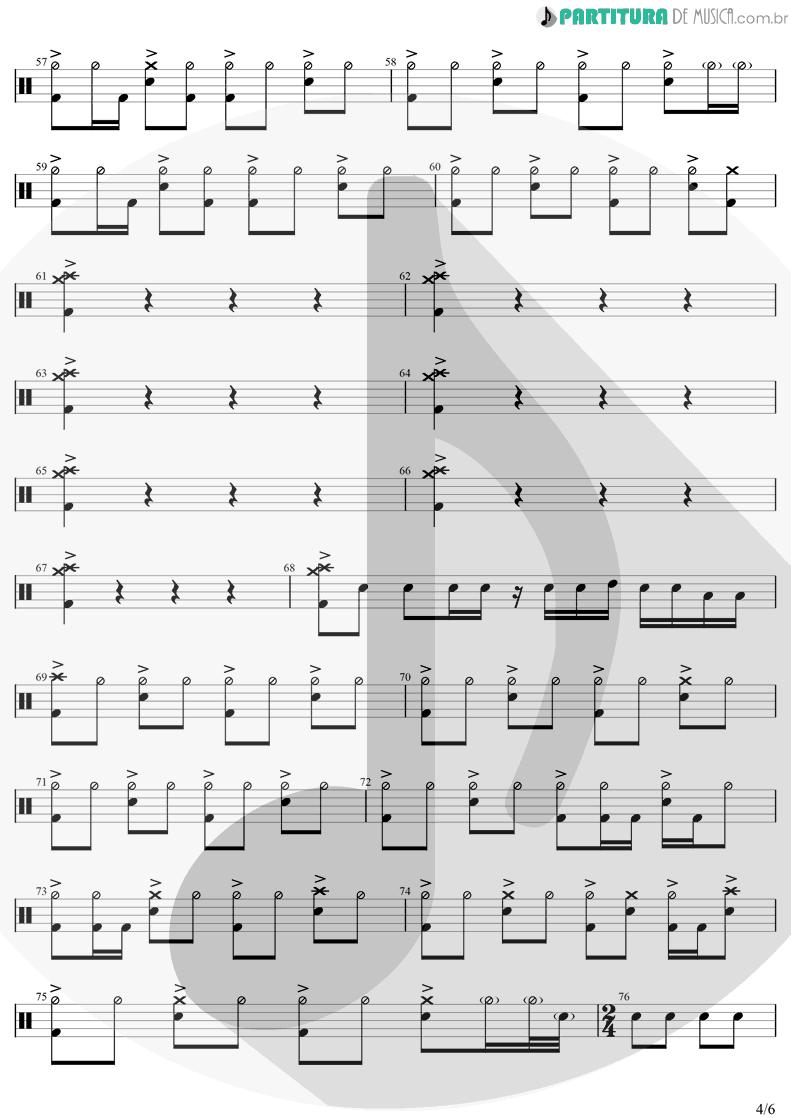Partitura de musica de Bateria - The Unforgiven | Metallica | Metallica 1991 - pag 4