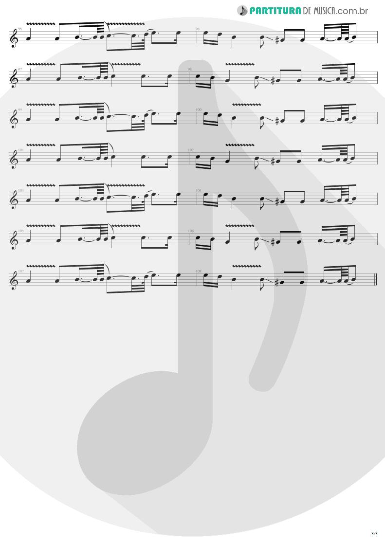 Partitura de musica de Guitarra Elétrica - The Unforgiven | Metallica | Metallica 1991 - pag 3