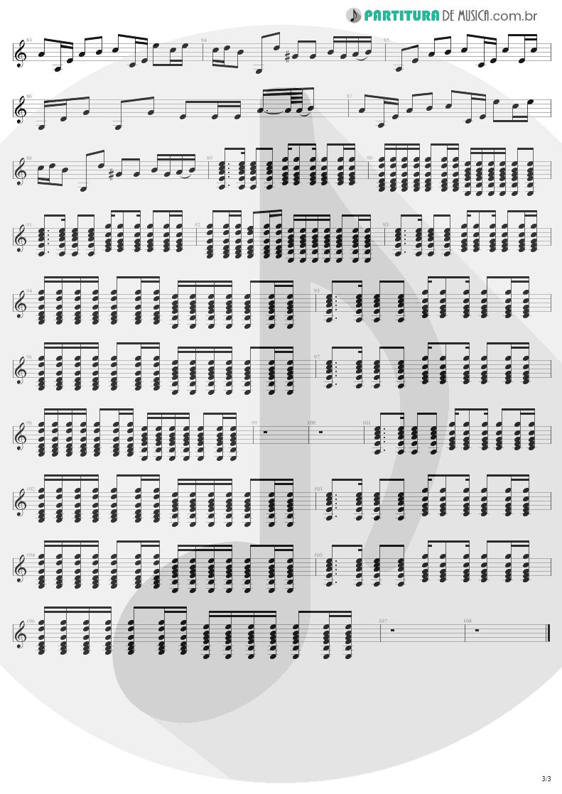 Partitura de musica de Violão - The Unforgiven | Metallica | Metallica 1991 - pag 3