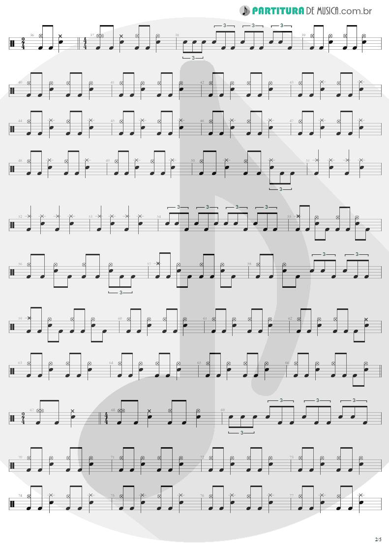 Partitura de musica de Bateria - 2 x 4 | Metallica | Load 1996 - pag 2