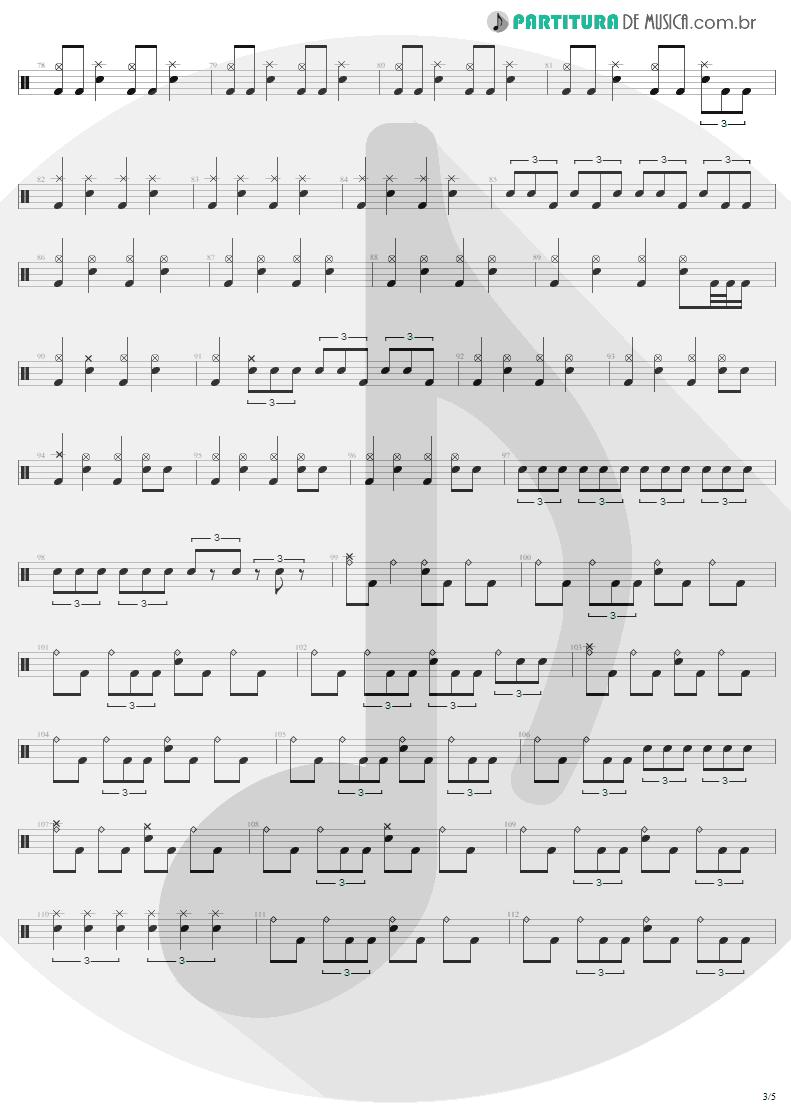 Partitura de musica de Bateria - 2 x 4 | Metallica | Load 1996 - pag 3