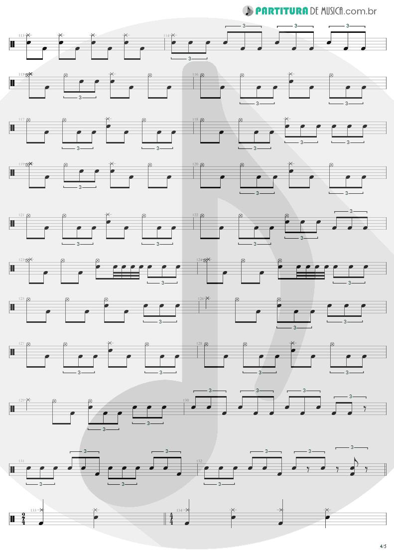 Partitura de musica de Bateria - 2 x 4 | Metallica | Load 1996 - pag 4