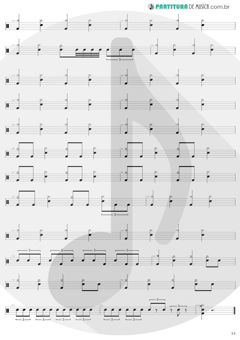 Partitura de musica de Bateria - 2 x 4 | Metallica | Load 1996 - pag 5