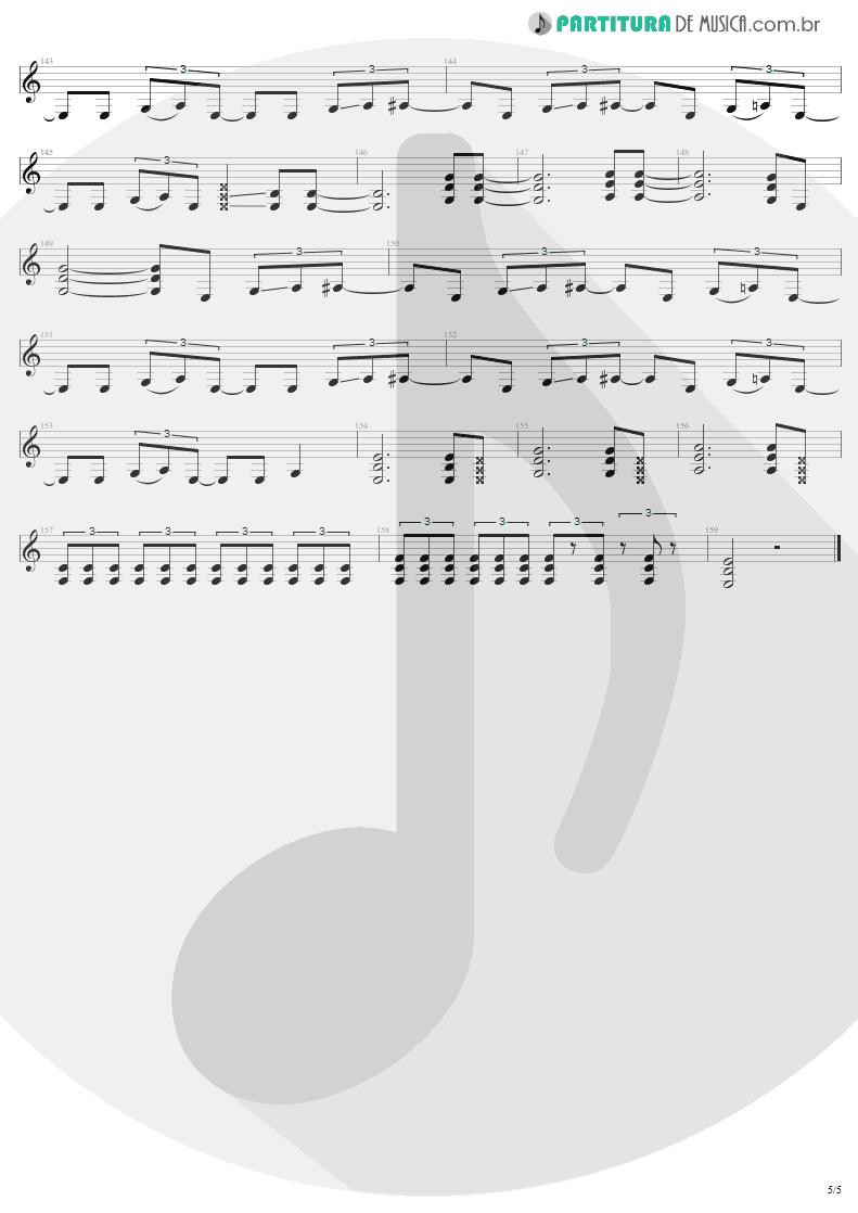 Partitura de musica de Guitarra Elétrica - 2 x 4 | Metallica | Load 1996 - pag 5