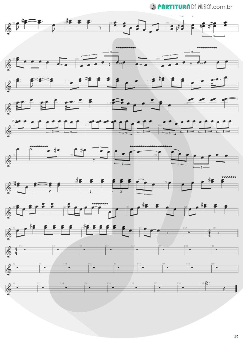 Partitura de musica de Guitarra Elétrica - 2 x 4 | Metallica | Load 1996 - pag 2