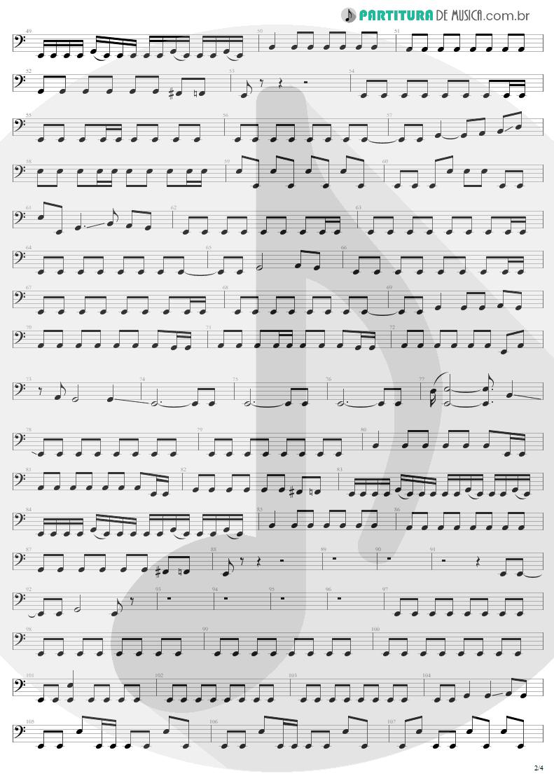 Partitura de musica de Baixo Elétrico - Ain't My Bitch | Metallica | Load 1996 - pag 2