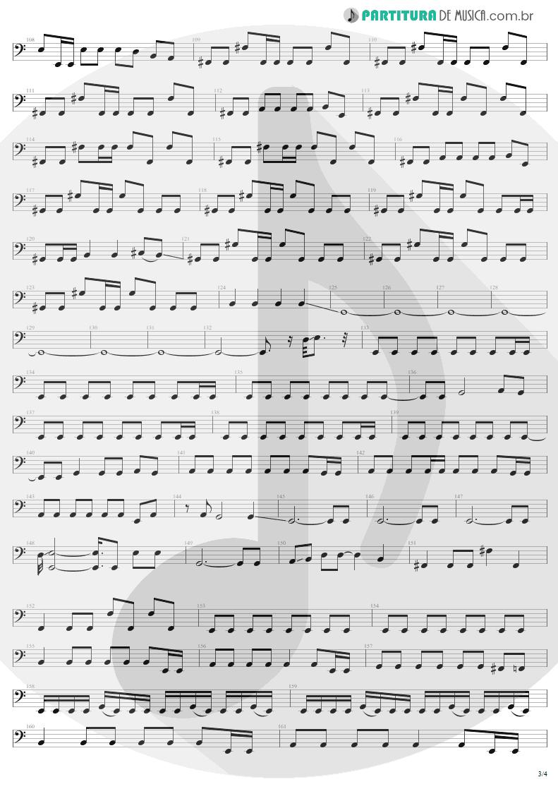 Partitura de musica de Baixo Elétrico - Ain't My Bitch | Metallica | Load 1996 - pag 3