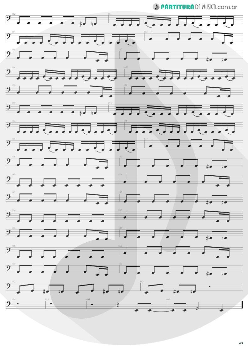 Partitura de musica de Baixo Elétrico - Ain't My Bitch | Metallica | Load 1996 - pag 4