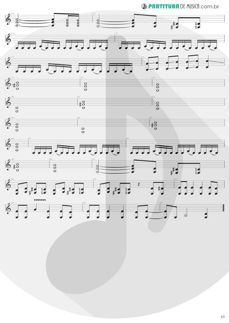 Partitura de musica de Guitarra Elétrica - Ain't My Bitch | Metallica | Load 1996 - pag 5
