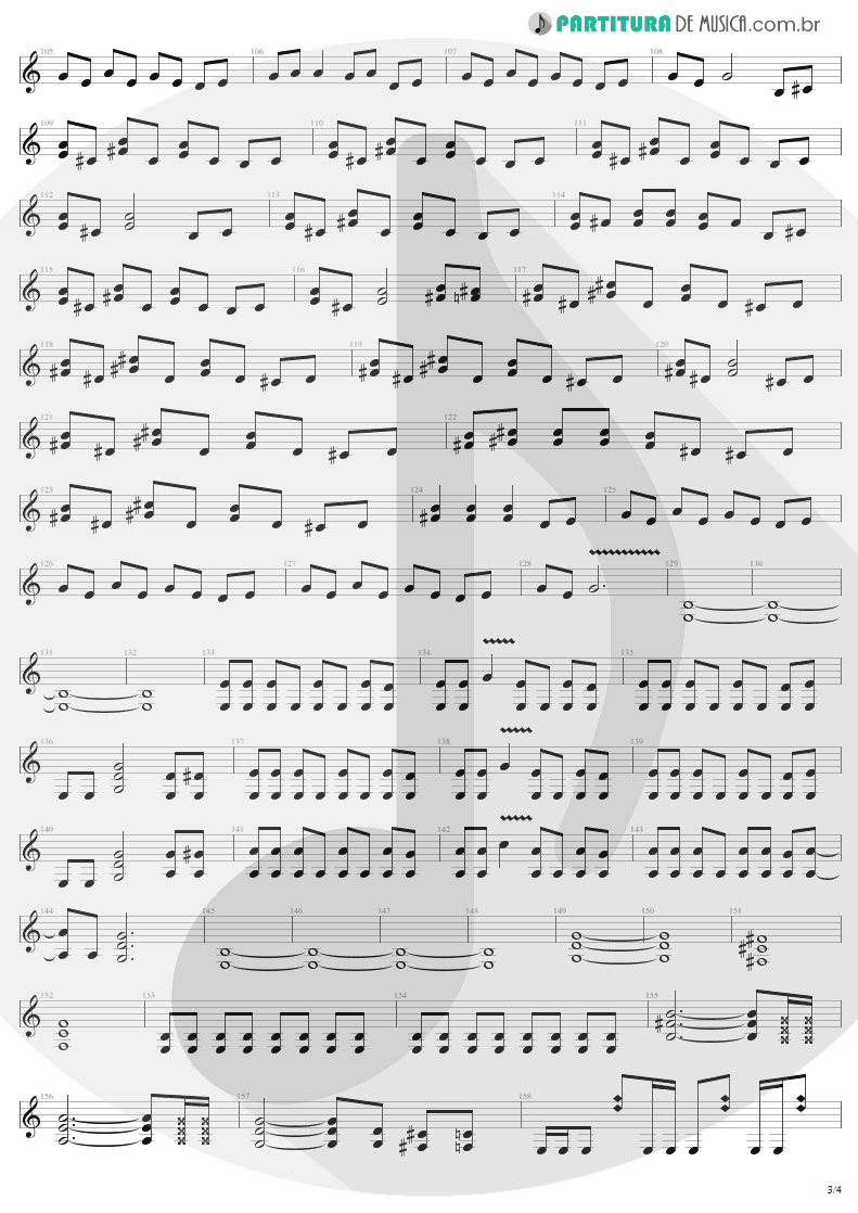 Partitura de musica de Guitarra Elétrica - Ain't My Bitch | Metallica | Load 1996 - pag 3