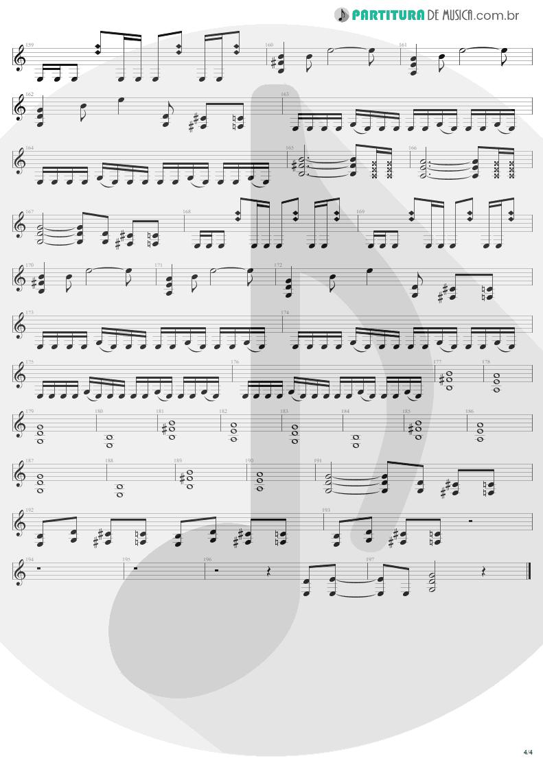 Partitura de musica de Guitarra Elétrica - Ain't My Bitch | Metallica | Load 1996 - pag 4