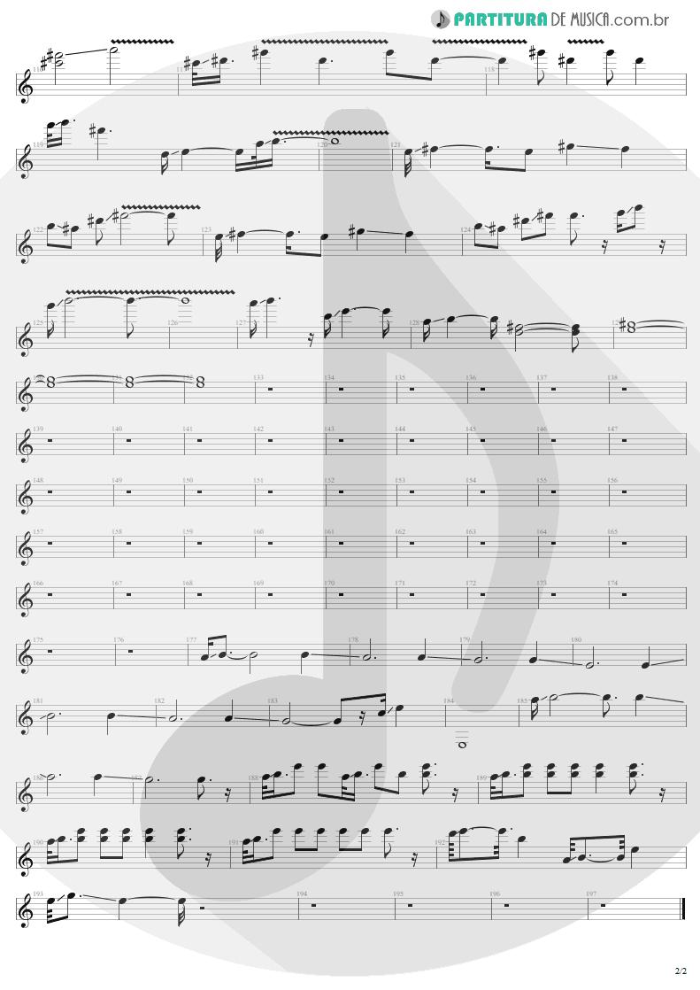 Partitura de musica de Guitarra Elétrica - Ain't My Bitch | Metallica | Load 1996 - pag 2