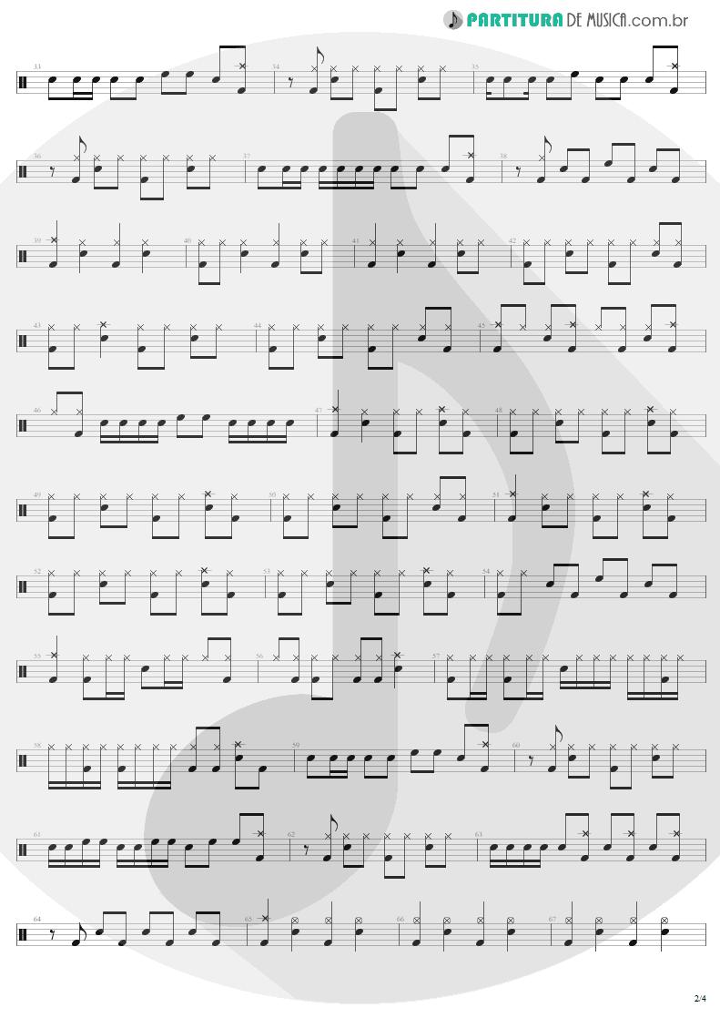 Partitura de musica de Bateria - Bad Seed | Metallica | ReLoad 1997 - pag 2