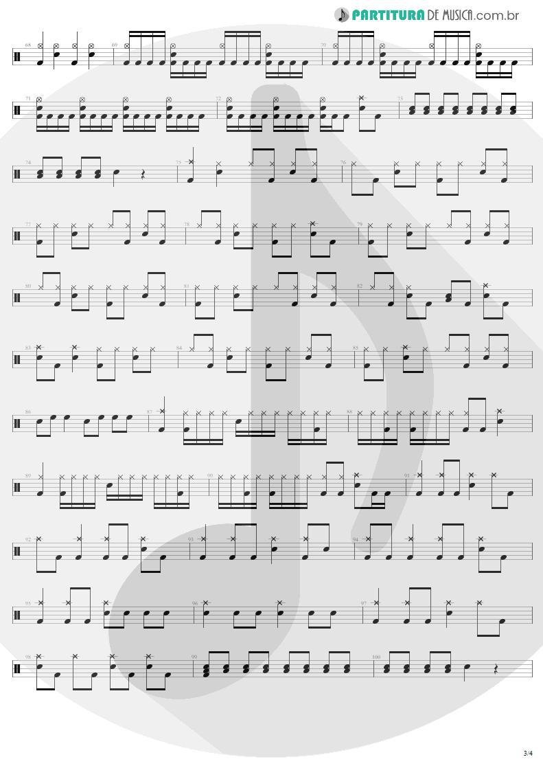 Partitura de musica de Bateria - Bad Seed | Metallica | ReLoad 1997 - pag 3