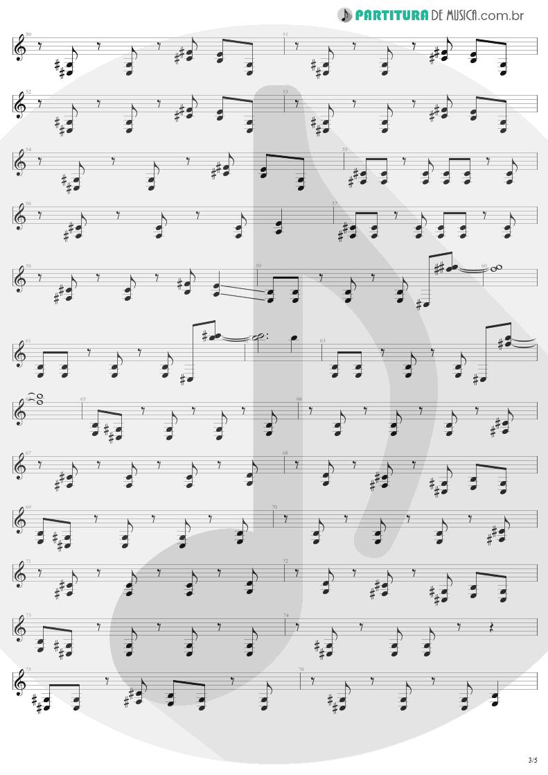 Partitura de musica de Guitarra Elétrica - Bad Seed | Metallica | ReLoad 1997 - pag 3