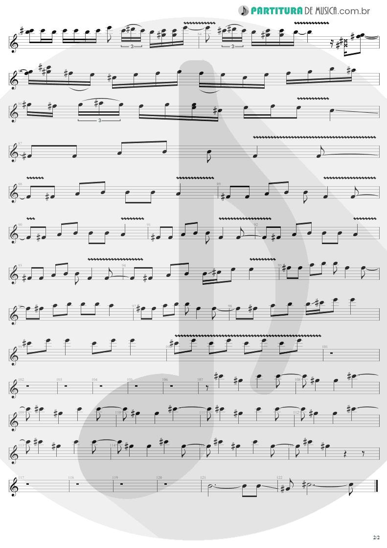 Partitura de musica de Guitarra Elétrica - Bad Seed | Metallica | ReLoad 1997 - pag 2