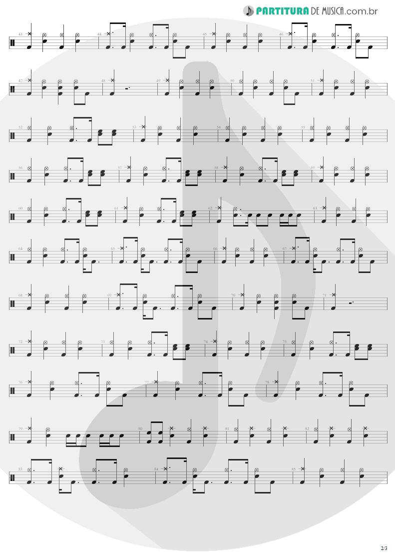 Partitura de musica de Bateria - Devil's Dance | Metallica | ReLoad 1997 - pag 2