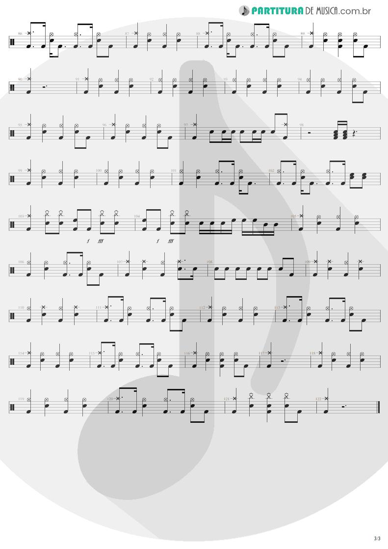 Partitura de musica de Bateria - Devil's Dance | Metallica | ReLoad 1997 - pag 3