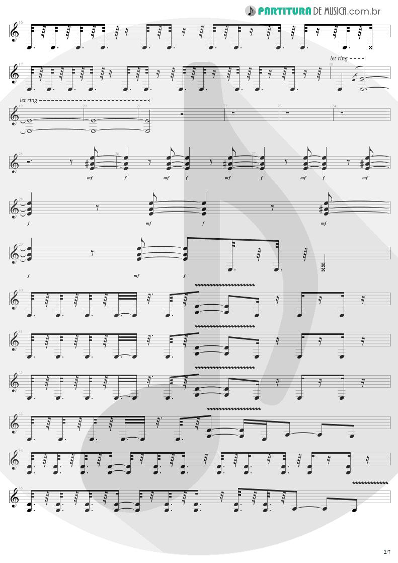 Partitura de musica de Guitarra Elétrica - Devil's Dance | Metallica | ReLoad 1997 - pag 2