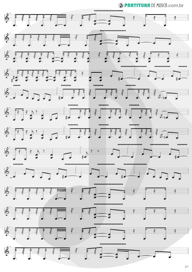 Partitura de musica de Guitarra Elétrica - Devil's Dance | Metallica | ReLoad 1997 - pag 3