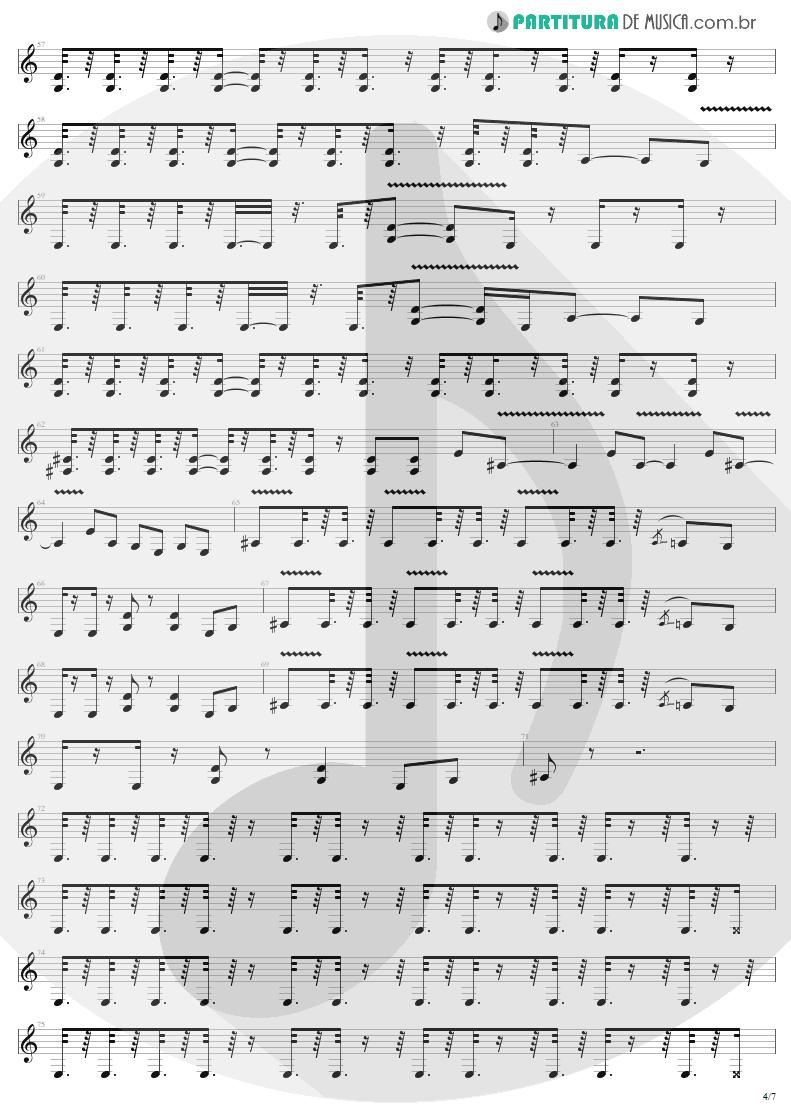 Partitura de musica de Guitarra Elétrica - Devil's Dance | Metallica | ReLoad 1997 - pag 4