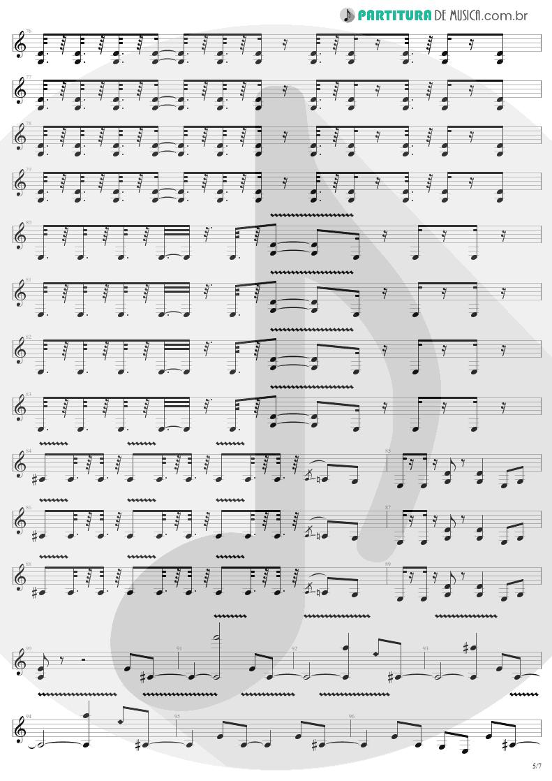Partitura de musica de Guitarra Elétrica - Devil's Dance | Metallica | ReLoad 1997 - pag 5