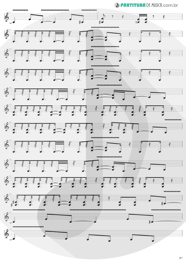 Partitura de musica de Guitarra Elétrica - Devil's Dance | Metallica | ReLoad 1997 - pag 6