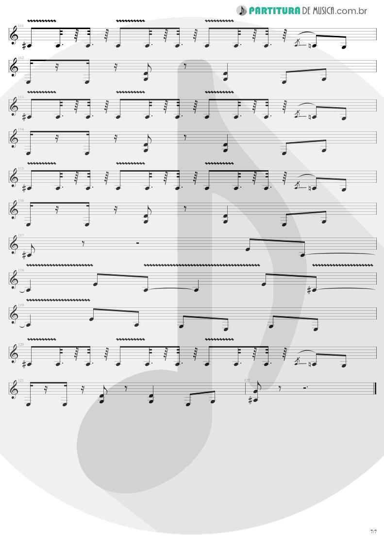 Partitura de musica de Guitarra Elétrica - Devil's Dance | Metallica | ReLoad 1997 - pag 7