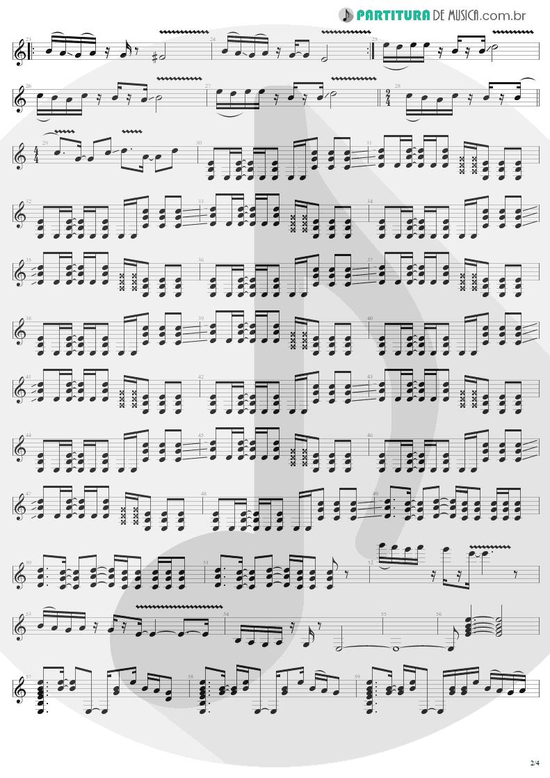 Partitura de musica de Guitarra Elétrica - Astronomy | Metallica | Garage Inc. 1998 - pag 2