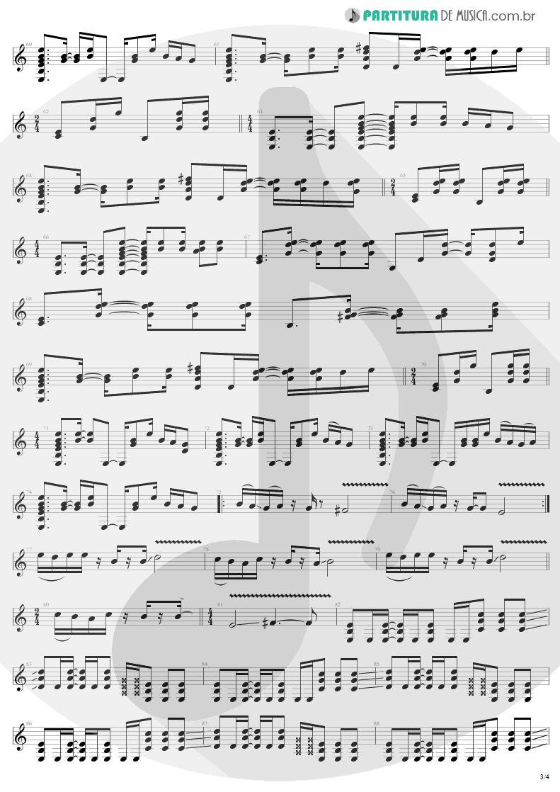 Partitura de musica de Guitarra Elétrica - Astronomy | Metallica | Garage Inc. 1998 - pag 3