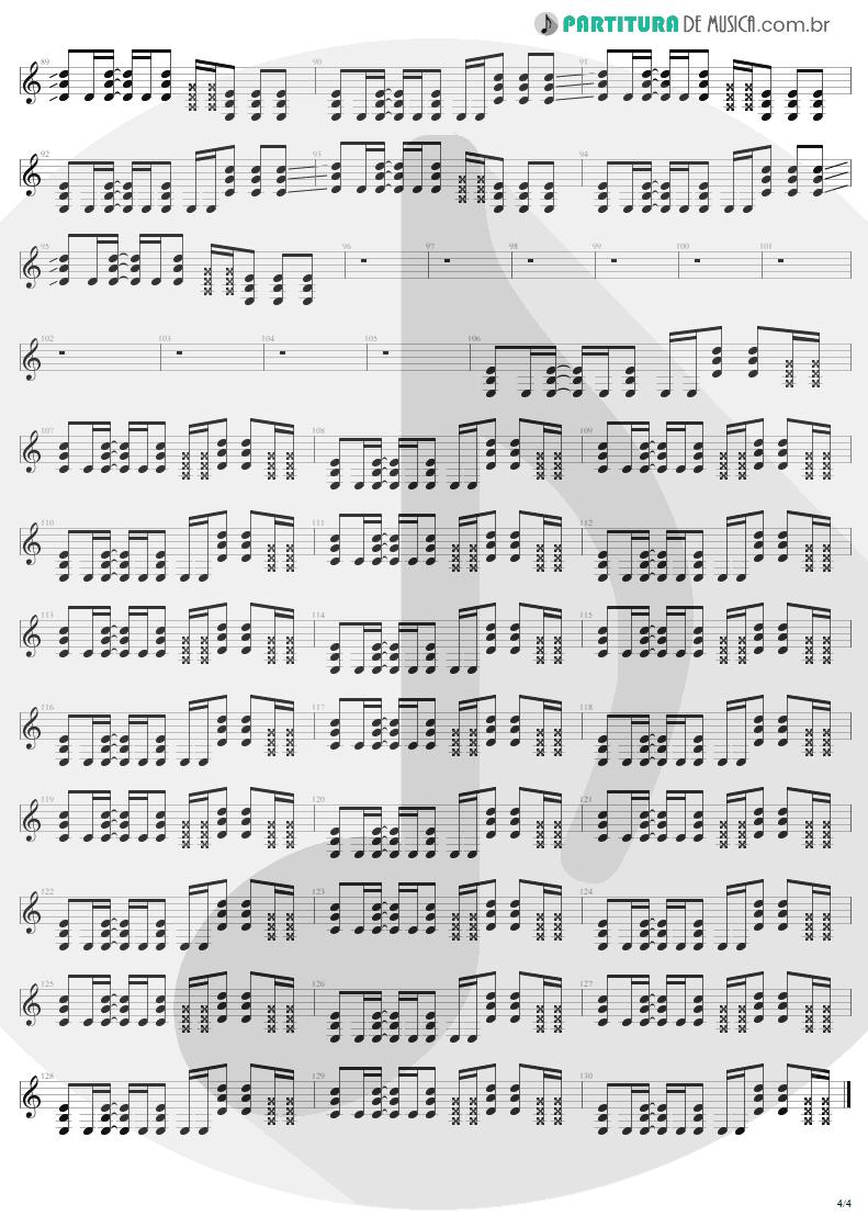 Partitura de musica de Guitarra Elétrica - Astronomy | Metallica | Garage Inc. 1998 - pag 4