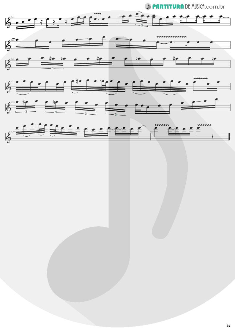 Partitura de musica de Guitarra Elétrica - Astronomy | Metallica | Garage Inc. 1998 - pag 5