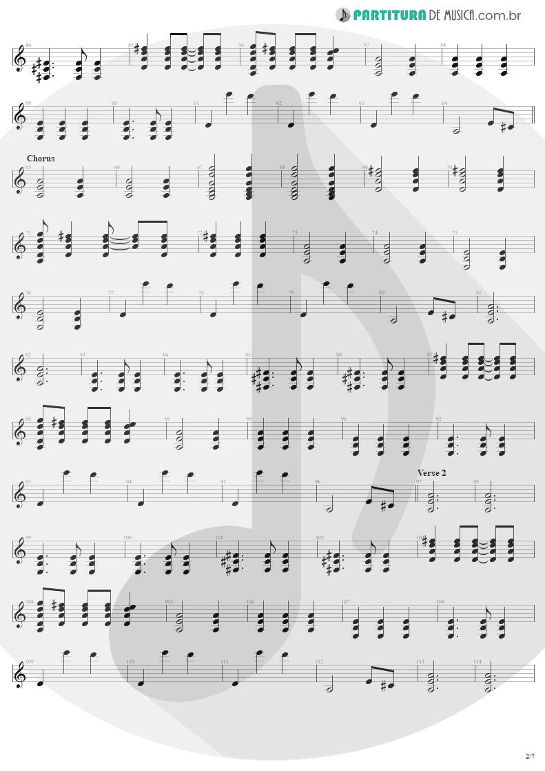 Partitura de musica de Guitarra Elétrica - Tuesday's Gone | Metallica | Garage Inc. 1998 - pag 2