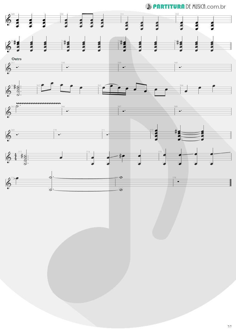 Partitura de musica de Guitarra Elétrica - Tuesday's Gone | Metallica | Garage Inc. 1998 - pag 7
