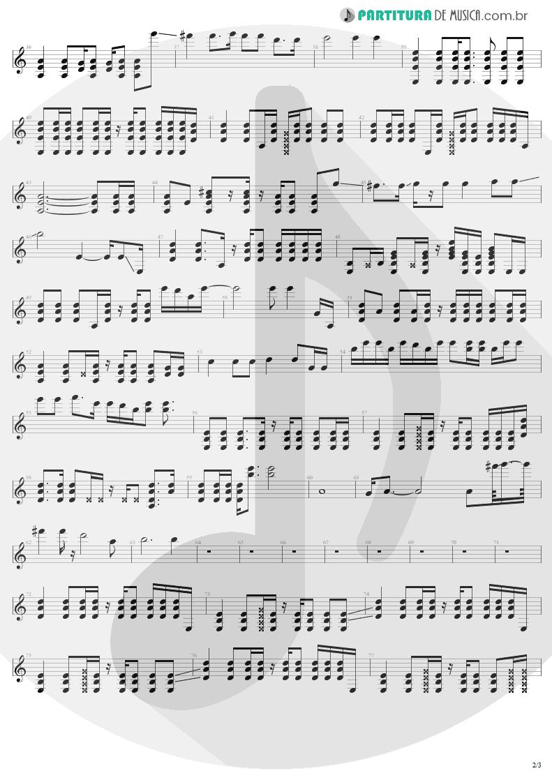 Partitura de musica de Violão - Turn The Page | Metallica | Garage Inc. 1998 - pag 2