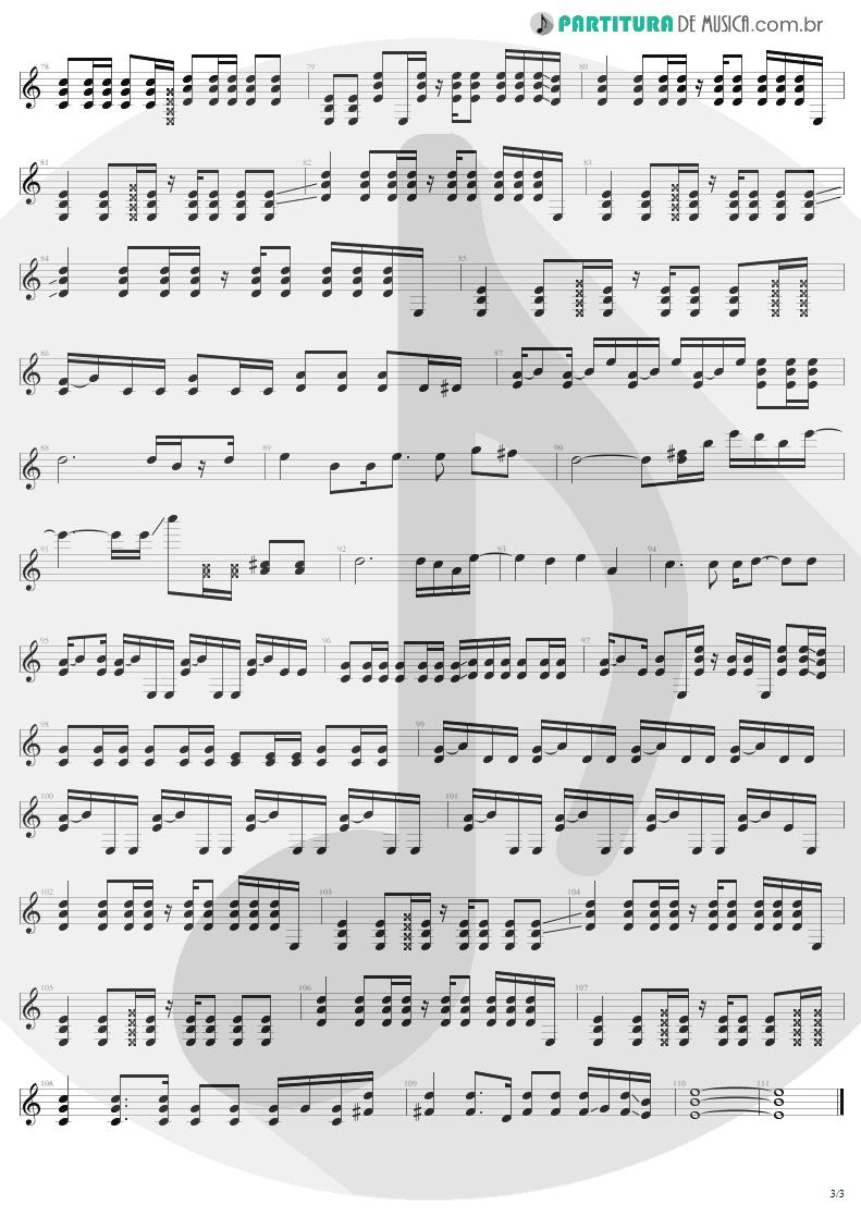 Partitura de musica de Violão - Turn The Page | Metallica | Garage Inc. 1998 - pag 3