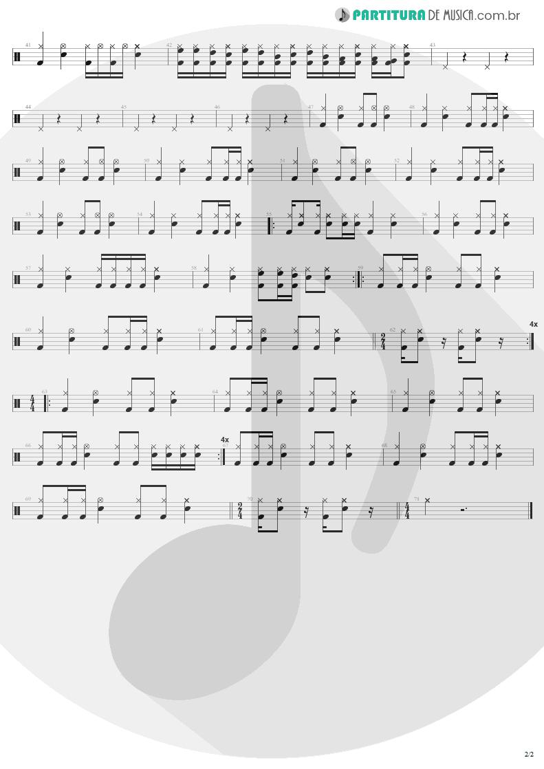 Partitura de musica de Bateria - No Leaf Clover | Metallica | S & M 1999 - pag 2